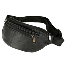 лучшая цена Men's Waist Packs male Genuine Leather Fanny Pack Belt Bag Phone Pouch Bags Travel Waist Pack Male Small Waist Bag Leather Pouch
