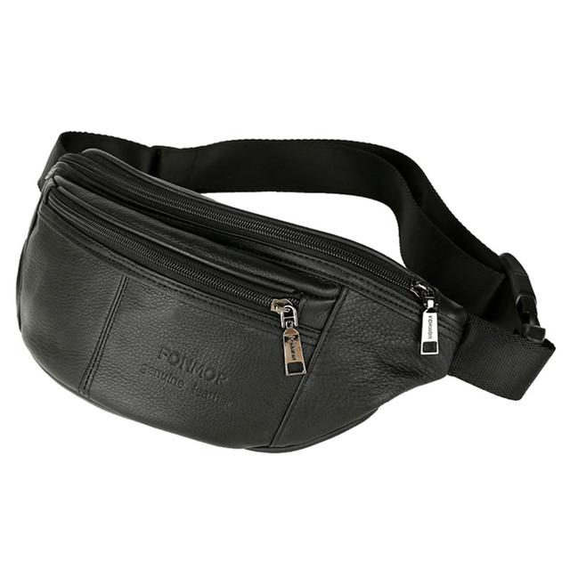 790968640e1cf Men's Waist Packs male Genuine Leather Fanny Pack Belt Bag Phone Pouch Bags  Travel Waist Pack Male Small Waist Bag Leather Pouch
