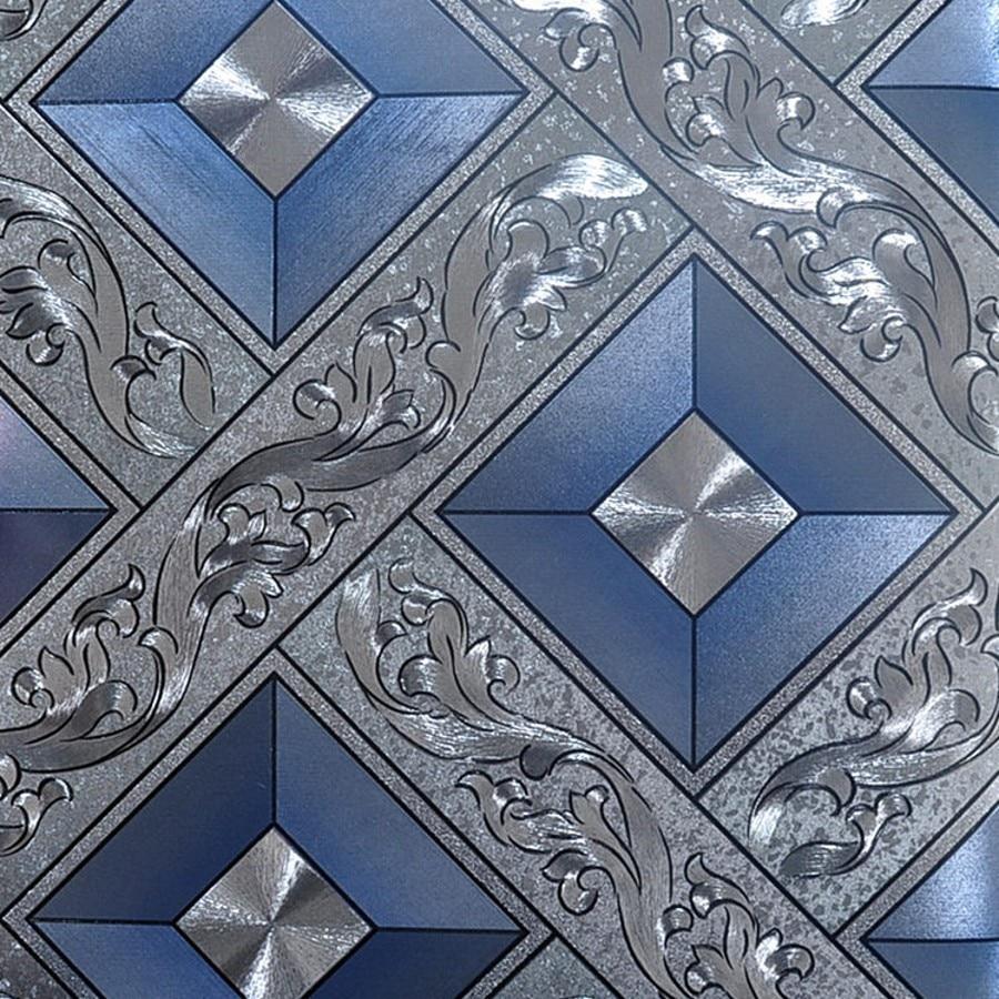 European ktv gold silver square papel de parede 3d for Silver wallpaper for walls