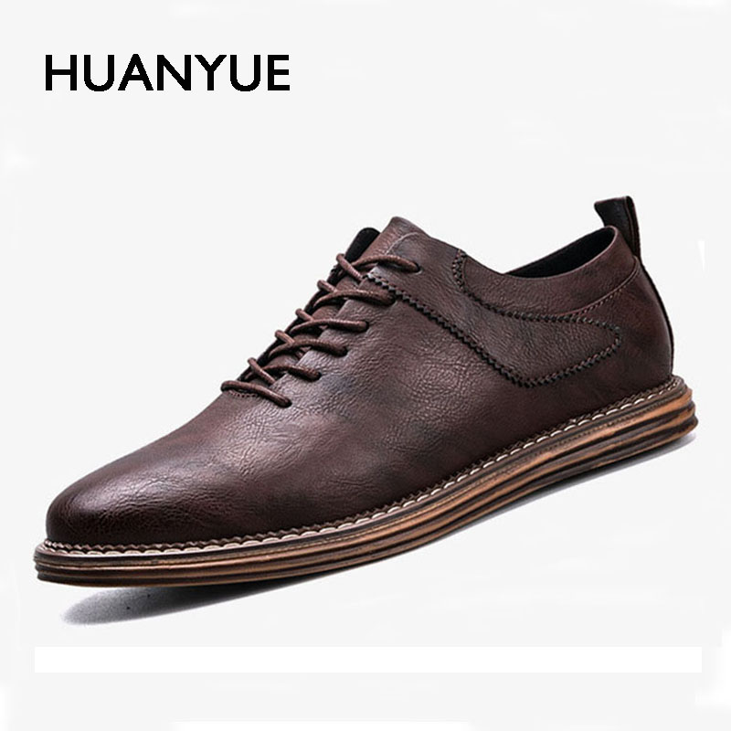 2017 New Autumn Men Shoes Fashion England Men Casual Shoes Black Dress Shoes High Quality Pu Leather Men's Shoes Zapatos Hombre 2017 new spring imported leather men s shoes white eather shoes breathable sneaker fashion men casual shoes