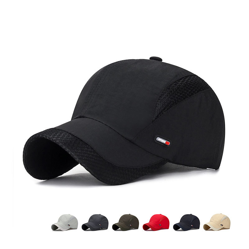 2020 Summer New Mens Outdoor <font><b>Sport</b></font> Sunscreen <font><b>Baseball</b></font> Hat Running Visor <font><b>Cap</b></font> Breathable Quick Dry Mesh <font><b>Caps</b></font> Gorras Chapeu image