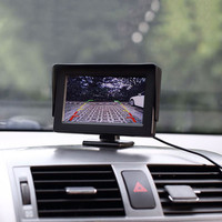 5 inch Meter Desktop Type Car Display LCD Monitores HD pantalla + Auto backup vista Euro Box Car Reversing Camera Kit