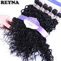 Волнистые волосы Reyna, 6 шт. в одном наборе, высокотемпературные синтетические волосы для наращивания, бразильское плетение для черных женщин