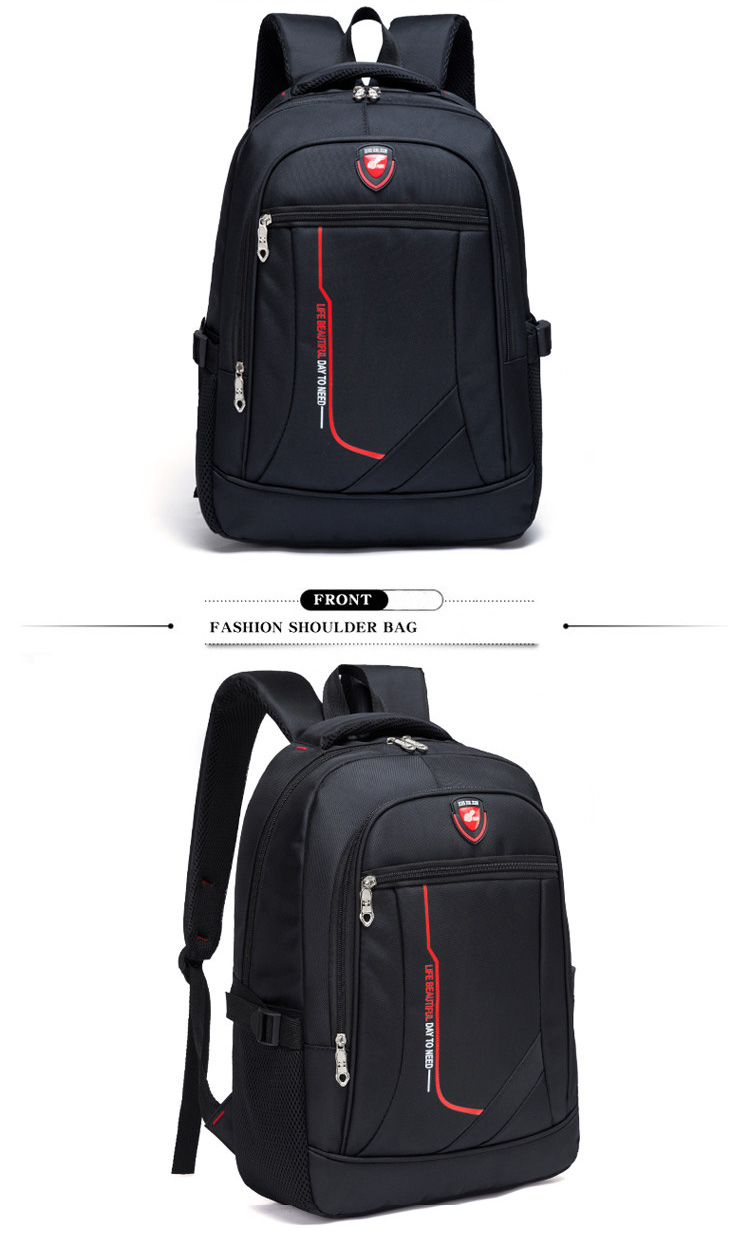 HTB1mnk5XiHrK1Rjy0Flxh7saFXaG - New Men Multifunctional Large capacity Student Schoolbag Casual school Backpack Fashion Male Travel Oxford Man's Simple Bag