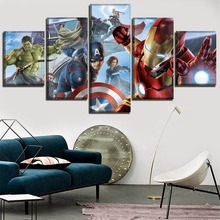 Wall Art Modular Pictures For Modern Living Room 5 Panel Movie Avengers 3 Infinty War Paintings Canvas Printing Type Poster