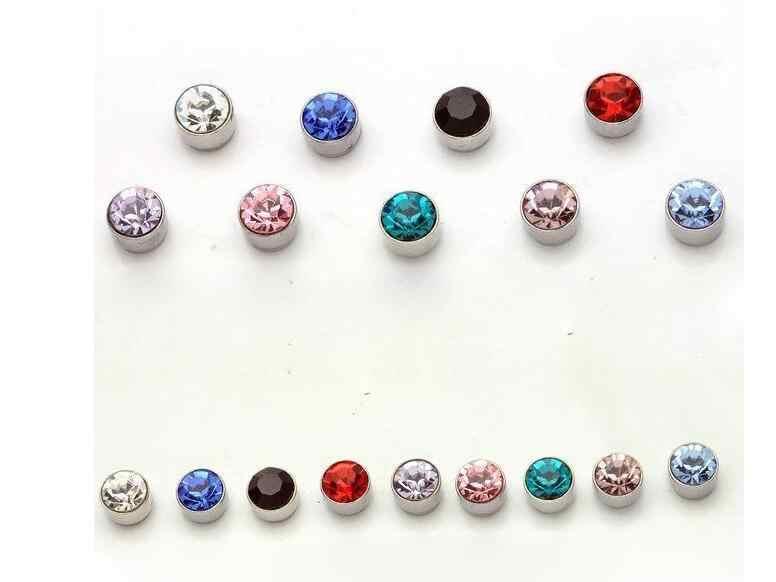 2018 nuevos pendientes de aleación de imán de cristal simple unisex a la moda sin perforaciones chupan 1 par