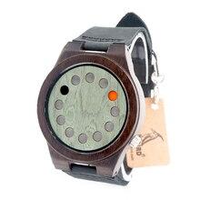 БОБО ПТИЦ A03 B16 12 отверстия Дизайн Древесины Бамбука Кварцевые Часы С настоящие Кожаные Ремни Прохладный Марка Дизайнер Часы Мужчины Женщины в Коробке