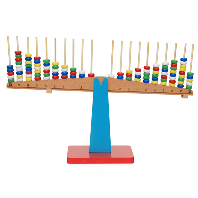 New Montessori Educational Toy  Wooden New Balance Scale Toy With Weights For Kids baby Maths Teaching AidsNew Montessori Educational Toy  Wooden New Balance Scale Toy With Weights For Kids baby Maths Teaching Aids