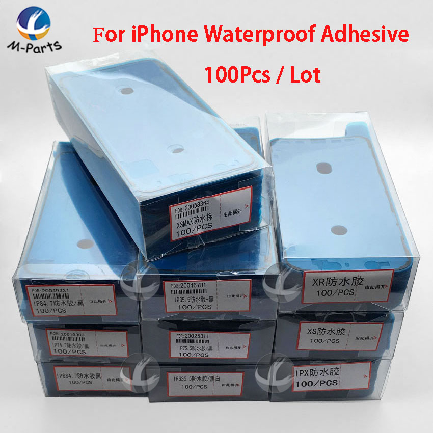 100pcs / Lot Waterproof Adhesive For IPhone 6S 6SP 7 7P 8 8P Plus X XS Max XSM XR 11 Pro Max 11Pro LCD Screen Frame Sticker New