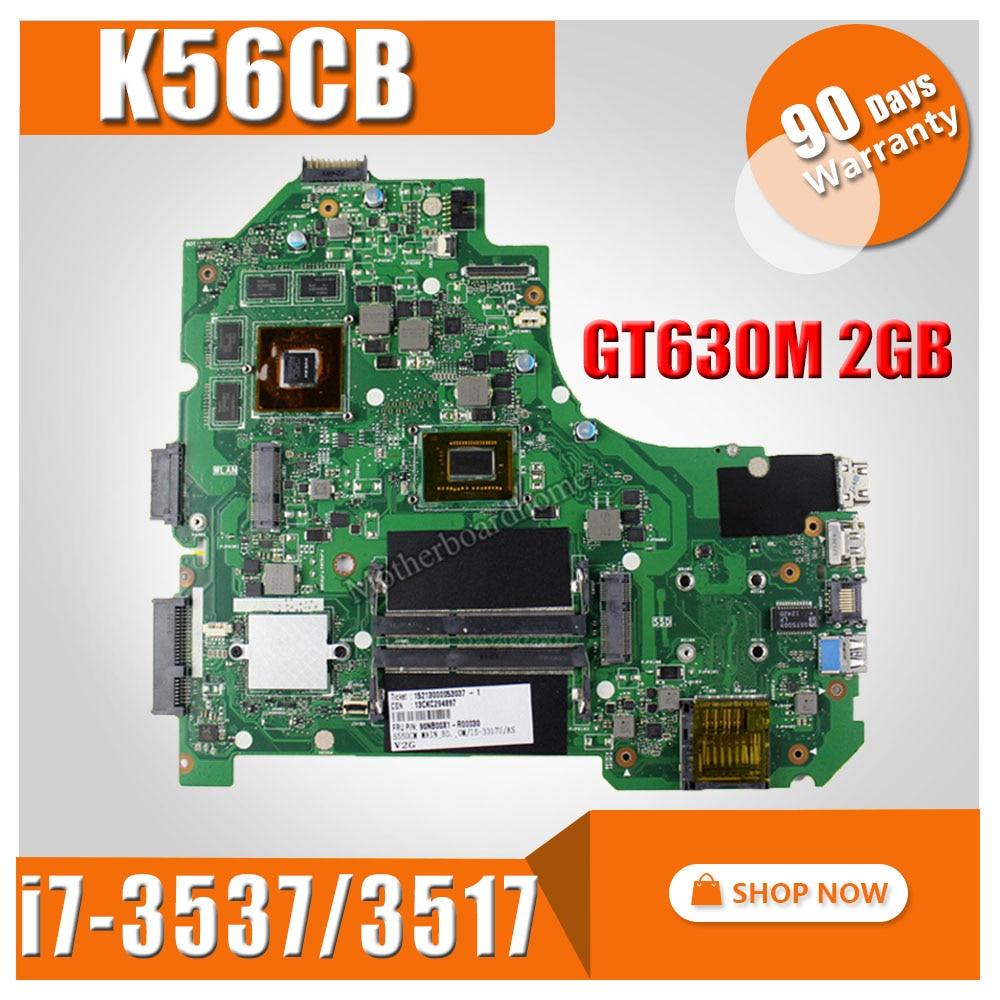 K56CM Motherboard GT630M 2GB i7-3537/3517 For ASUS S56C S56CM S550C S550CM K56CB K56C K56CM laptop Motherboard K56CM Mainboard motherboard for asus k56cm s56c s550cm a56c laptop motherboard k56cm mainboard 987 cpu rev 2 0 integrated in stock