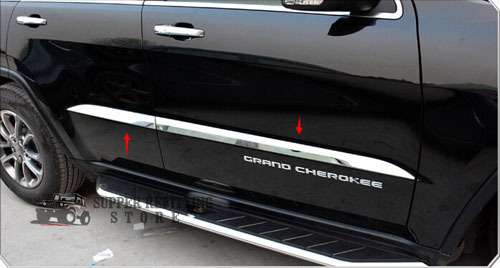 Chrome ABS Side Door Body Molding Cover Trim For Jeep Grand Cherokee 2014