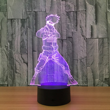 Impressive 3D night LED Naruto table / nightstand lamp