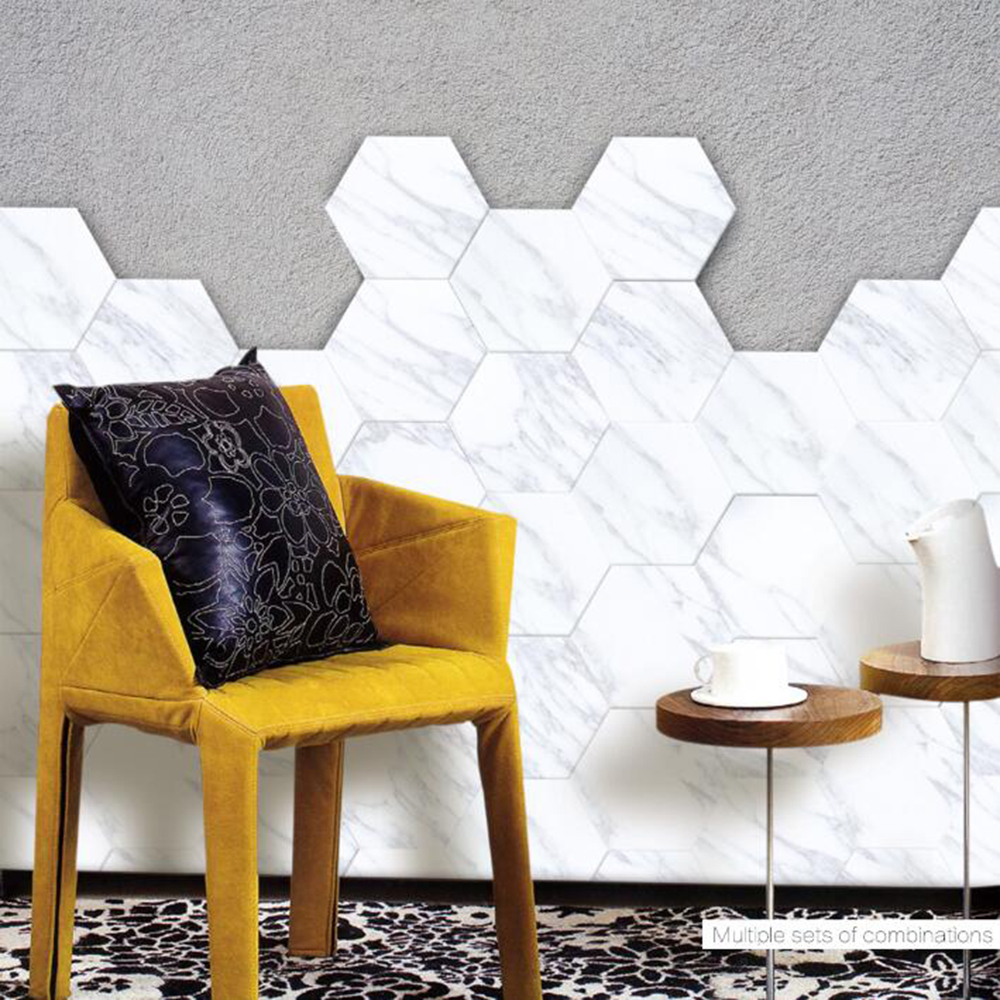 Europe Tiles Wall Stickers Floor Stickers DIY Anti Slip Self adhesive Waterproof Wall Art for Hotel Bathroom Bedroom in Wall Stickers from Home Garden