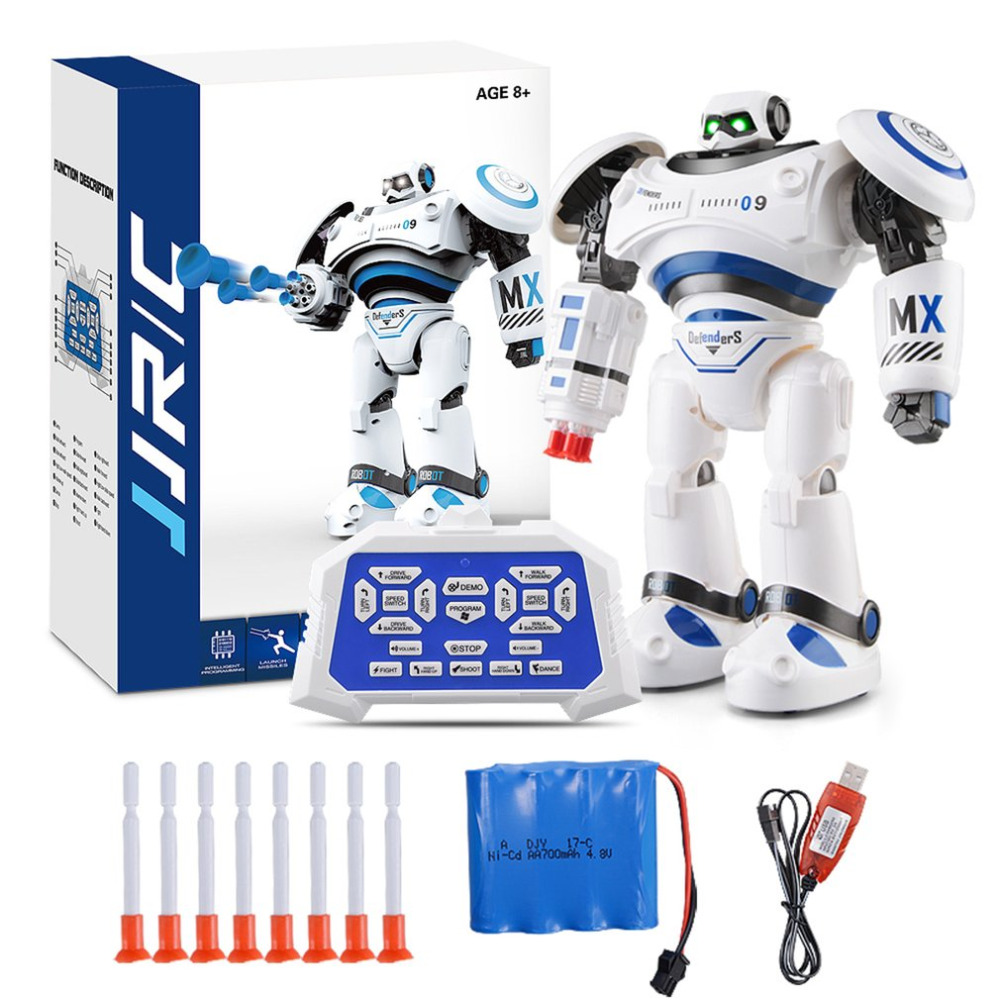 OCDAY New R1 Intelligent RC Robot Programmable Walking Dancing Combat Defenders Armor Battle Robot Remote Control Toy For Child intelligent wireless remote control robot dog kids dancing walking dog