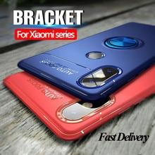 Magnet Holder Case for Xiaomi Mi 9T Pro 8 A2 Lite 9 SE Pocophone F1 Silicone Ring Case Redmi Note 5 7 Pro 6A Note 7 Back Cover for xiaomi redmi note 7 6 5 k20 pro 6a 5 plus case gradient tempered glass cover for xiaomi pocophone f1 mi 9 9t 8 se a2 lite a1