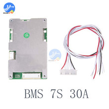 BMS 7S 24V 30A 18650 Lithium Battery Protection Board Current Balancer Lipo Li-ion BMS PCB Atmega  Battery Charge Accessory