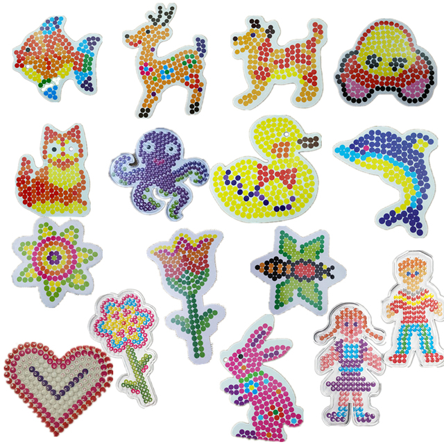 Us 0 96 15 Off 1 Pcs Template Untuk 5 Mm Perler Beads Thermo Pola Mozaik Untuk Hama Manik Manik Manik Manik Perler Bola Kertas Template Dengan