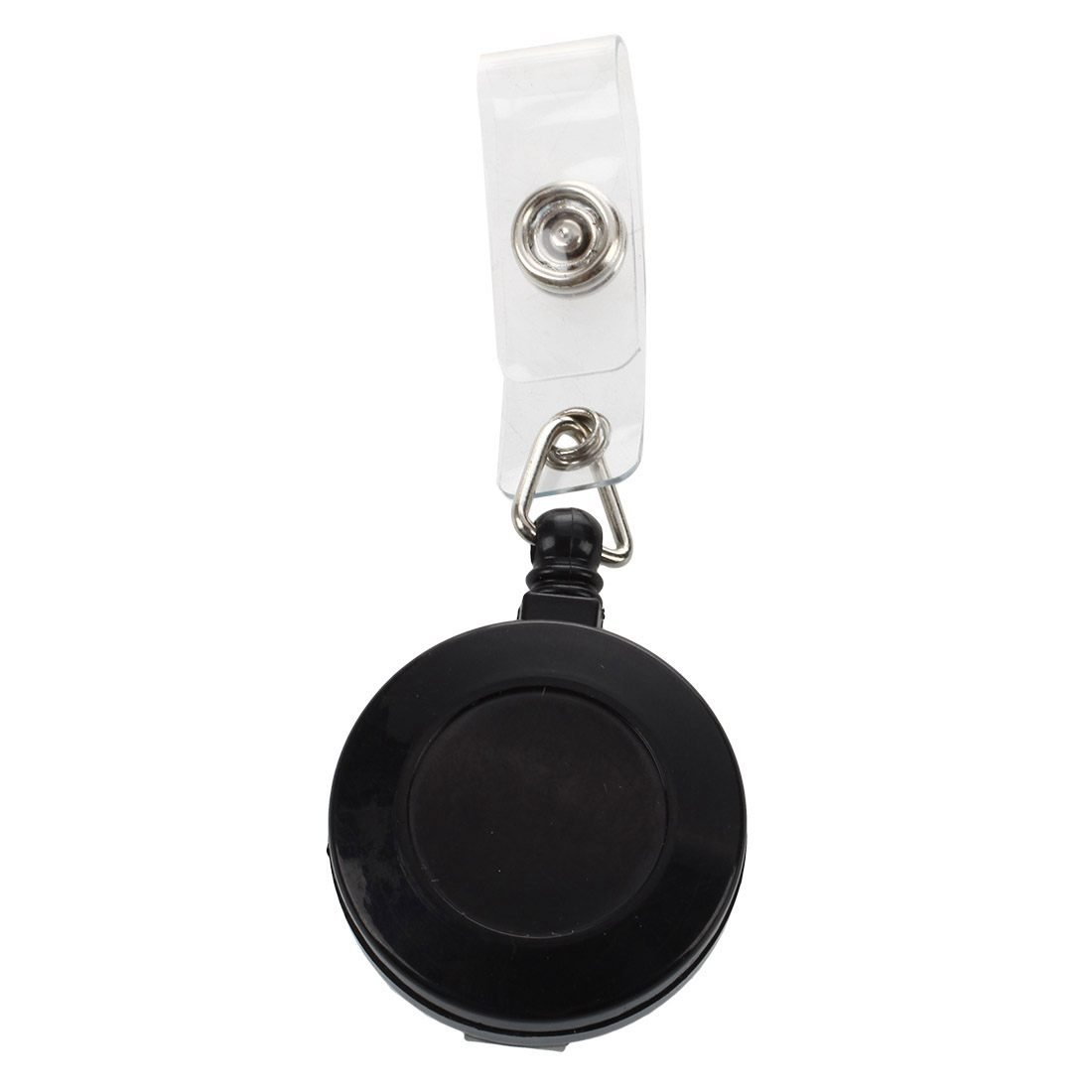 1 Pcs Badge Holder Retractable Reel YOYO Clip Snap Button ID Card Key Black