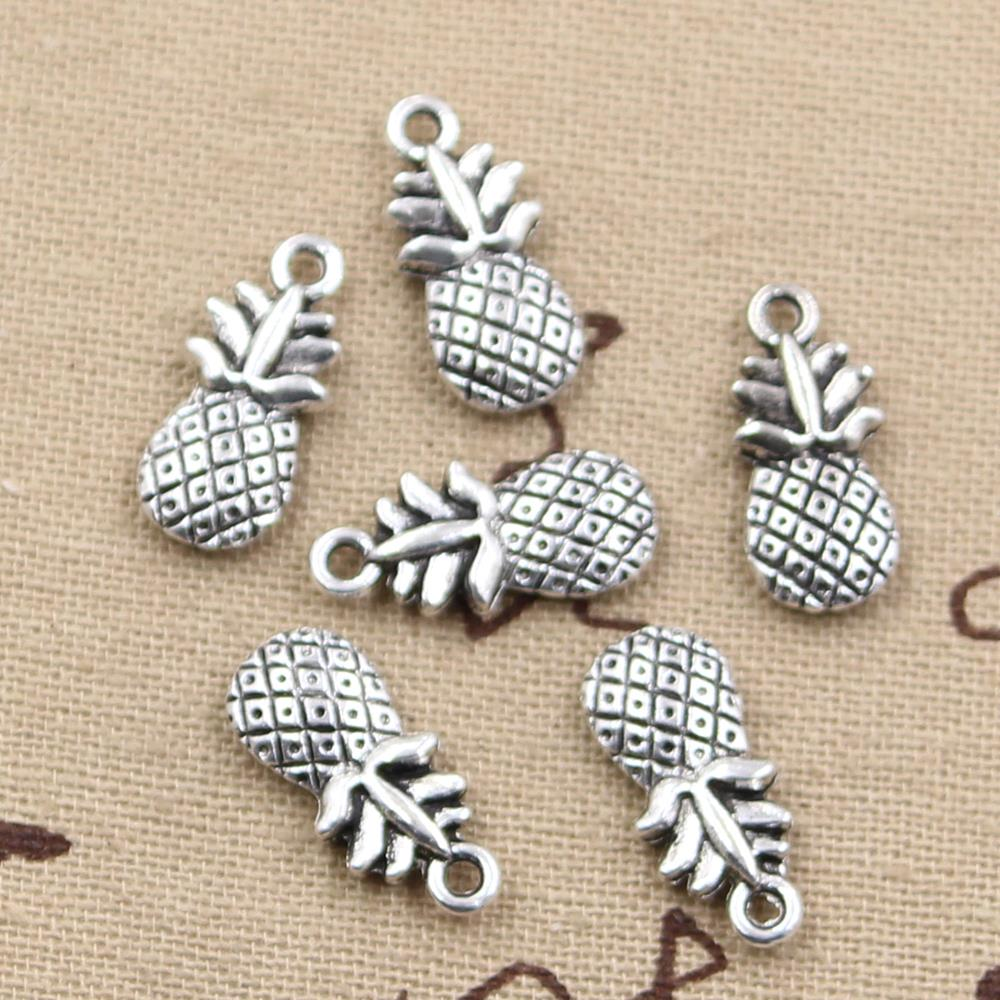 8pcs Charms double sided pineapple 19*9mm Antique Making pendant fit,Vintage Tibetan Silver,DIY bracelet necklace