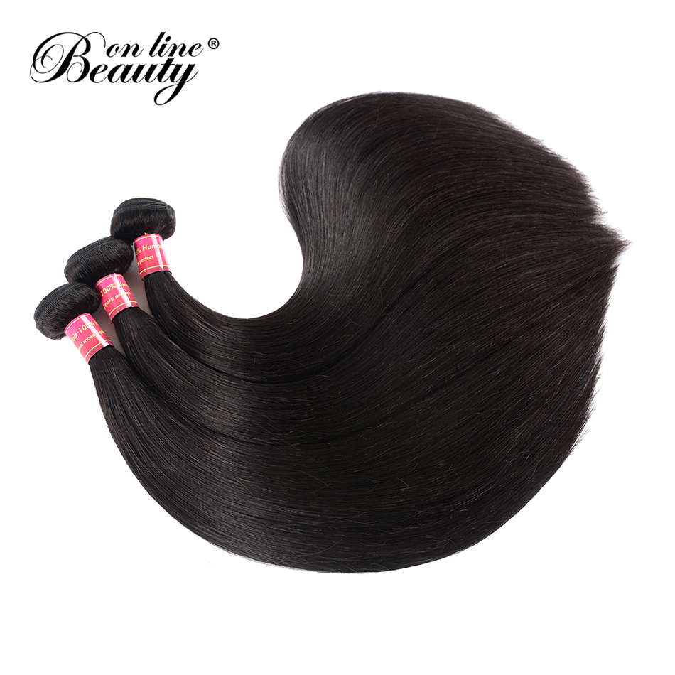 Beauty On Line Hair Peruvian Straight Hair 3 Bundles 8-30 inch Human Hair Weave Natural Color Free Ship Remy Hair Extensions