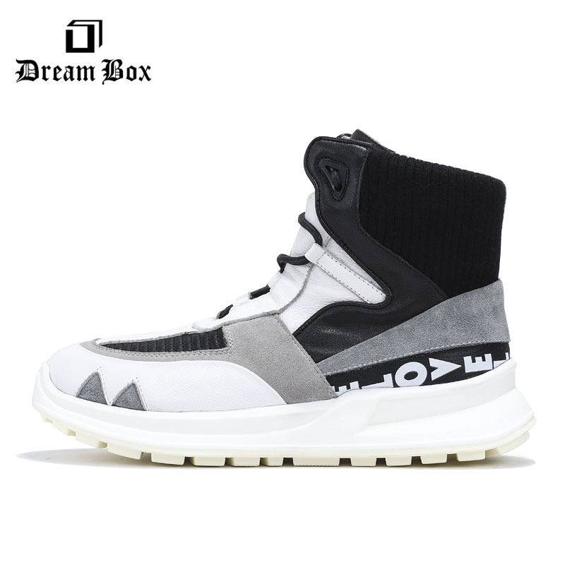 Leather High top Sports And Leisure Shoes Hip hop Wild Tide Shoes Men in Men 39 s Casual Shoes from Shoes