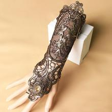 New Arrival Vintage Party Black and Golden Lace Gloves Bracelets/ Fashion Lady Party Dress Accessories Bracelet Jewelry