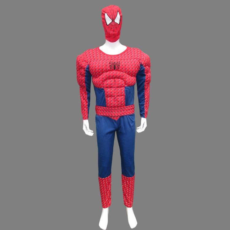free shipping 2016 with mask <font><b>Halloween</b></font> Spider Man <font><b>Costume</b></font> <font><b>muscle</b></font> <font><b>adult</b></font> clothes <font><b>muscle</b></font> spider man clothing <font><b>adult</b></font> cosplay <font><b>costume</b></font>