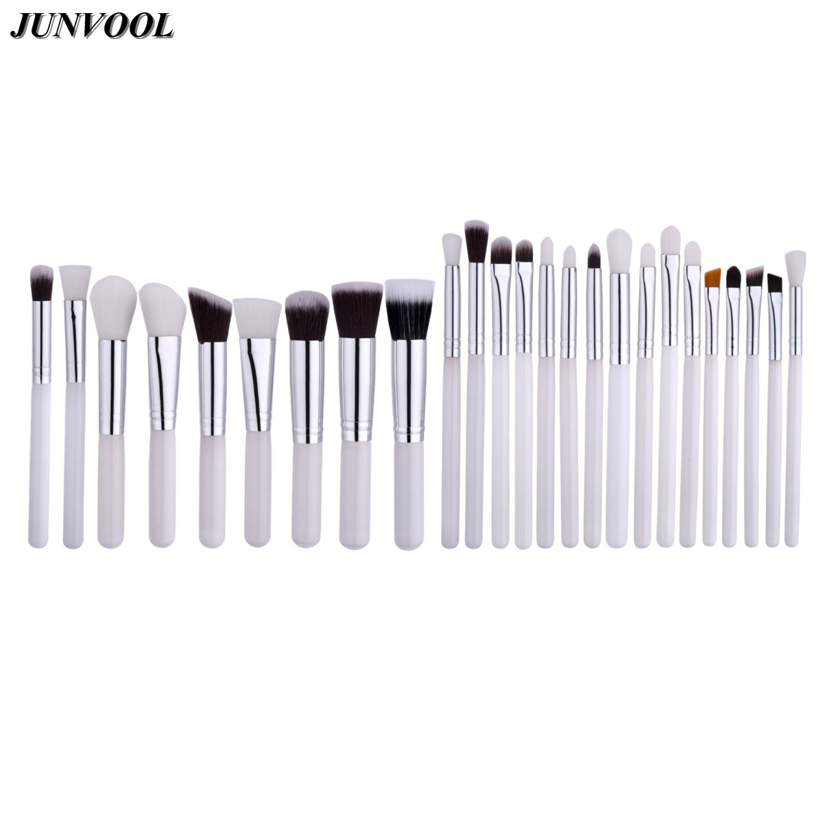 25Pcs Makeup Brushes Set Professional Make Up Tools Kit Powder Foundation Eyeshadow Eyeliner Cosmetic Beauty Blushes White&Black 25pcs makeup brushes set woodcolor nylon eye foundation powder eyeshadow eyeliner blush brush make up cosmetic tools kit bag