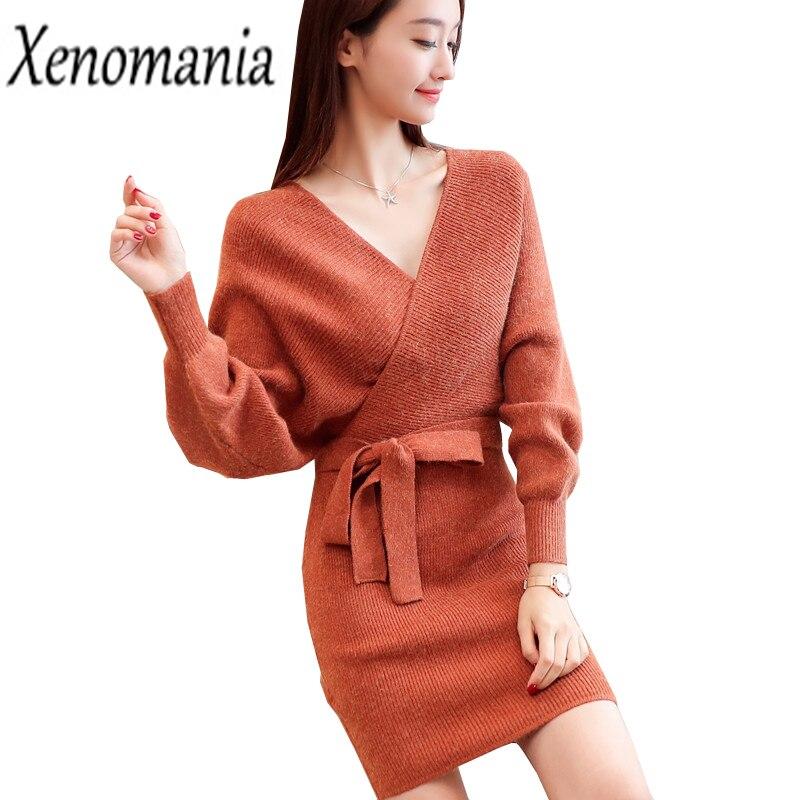 Wrap Dress Autumn 2017 Winter Dress Vestido De Festa Ukraine Plus Size Sweater Dresses Brazil Knitted Sexy Vintage Robe Femme вечернее платье mermaid dress vestido noiva 2015 w006 elie saab evening dress