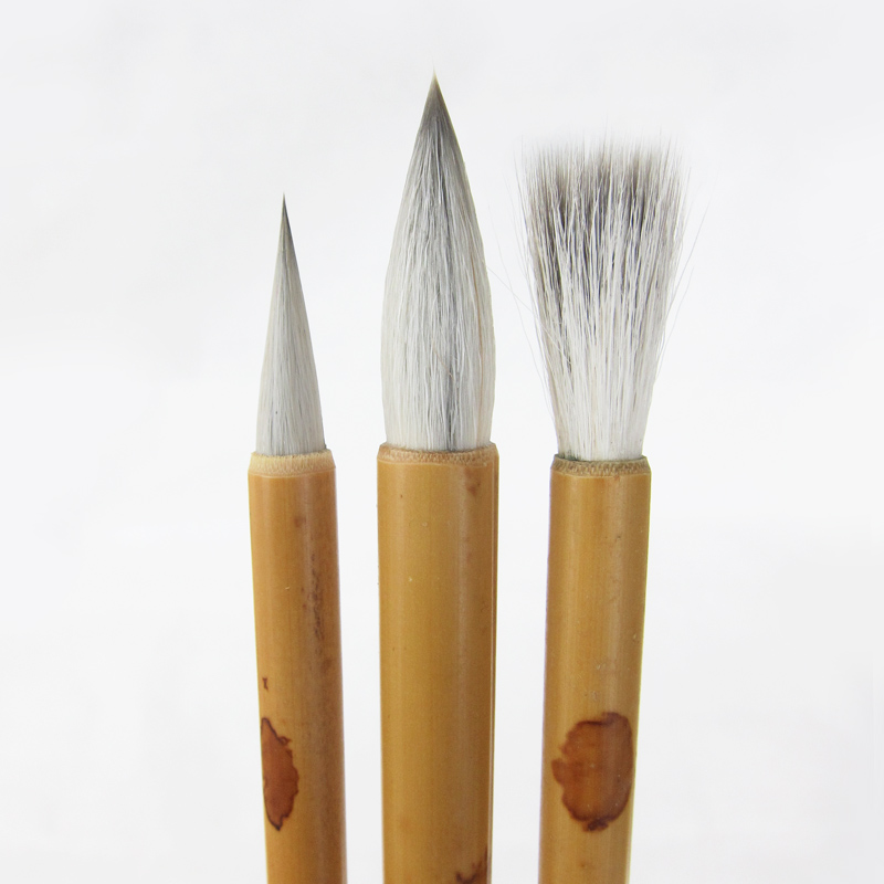 Chinese Calligraphy Brush Pen Traditional Chinese White Clouds Bamboo Woolen Hair Writing Brush for Calligraphy Painting BrushChinese Calligraphy Brush Pen Traditional Chinese White Clouds Bamboo Woolen Hair Writing Brush for Calligraphy Painting Brush