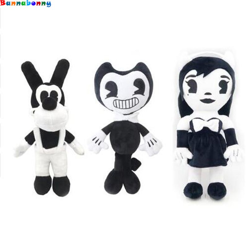 30CM Horror Game Bendy And The Ink Machine Plush Doll Lovely Black Cartoon Bendy Plush Toy Baby Children Good Quality Gift футболка toy machine bummed black