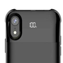 Чехол для зарядки аккумулятора для Iphone X XS XR XS аккумулятор Max Case power раздельное Беспроводное зарядное устройство чехол умный цифровой дисплей