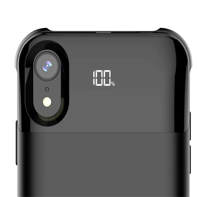 For Iphone X XS XR XS Max <font><b>11</b></font> <font><b>11</b></font> Pro <font><b>11</b></font> Pro Max Battery Case Power Separate Wireless Charging Battery Case Smart Digital Display image