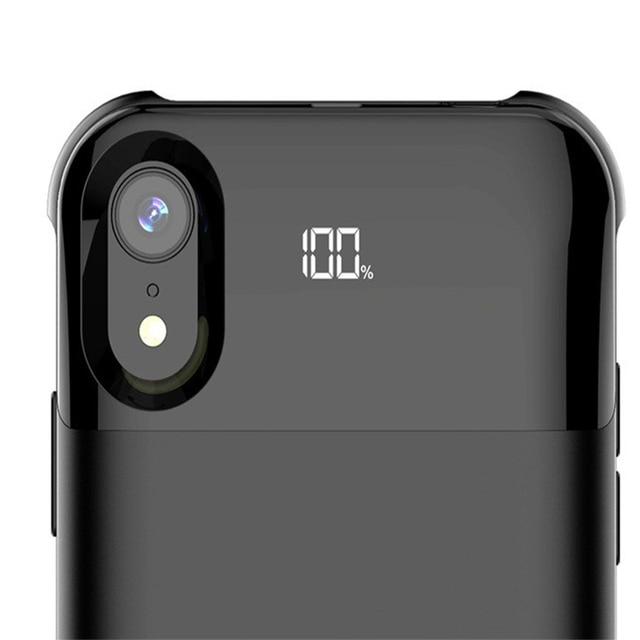 Şarj Pil Kapağı Için Iphone X XS XR XS Max Pil Kutusu Güç Ayrı Kablosuz Şarj Pil Kutusu Akıllı dijital ekran