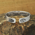 Custom Cuff Bracelet, Secret Message Bracelet, Yoga Jewelry,Lotus Flower, OM,inspiration Engraved Name,hand stamped unique gift