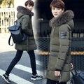 Homens Jaqueta de inverno 2016 Dos Homens do Algodão Mistura Casacos Mens Zipper Roupas jaqueta Casual Grosso Outwear Para Homens Ásia Tamanho 3XL masculino