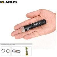 KLARUS FL1A ROJO-VERDE alterna 1A EDC Linterna DEL CREE XP-G2 LED 65 lúmenes modo intermitente luz UV pequeño torchwith batería