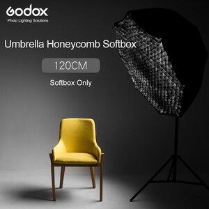"Image 2 - Godox Draagbare 120 cm 47 ""Octagon Umbrella Softbox met Honingraat Foto Reflector Honingraat Softbox voor Flash Speedlight"
