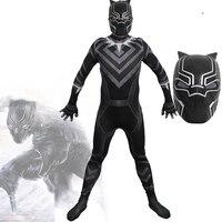 New 2018 Marvel Superhero Movie Black Panther Cosplay Costume With Mask Helmet Adult Super Heroes Party Halloween Costumes Men