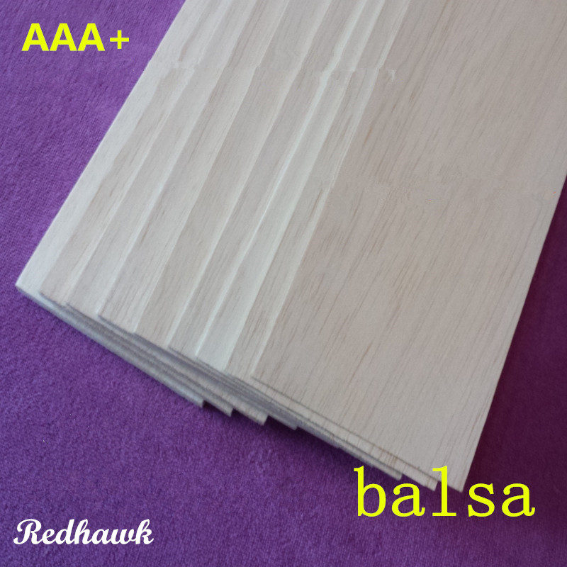 AAA+ Balsa Wood Sheets ply 4mm size 1000mmX80mmX4mm super quality for DIY airplane boat model material free shipping