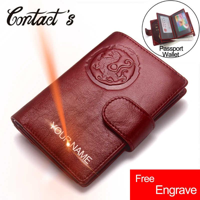 Passeport portefeuille en cuir véritable femmes voyage portefeuilles carte de visite passeport sac à main organisateur permis de conduire couverture porte document