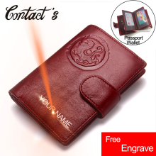 Free Engrave HOT!!Passport Cover Wallet For Men Cowhide Leather Passport Holder Business Travel Protector Cover Case Card Holder