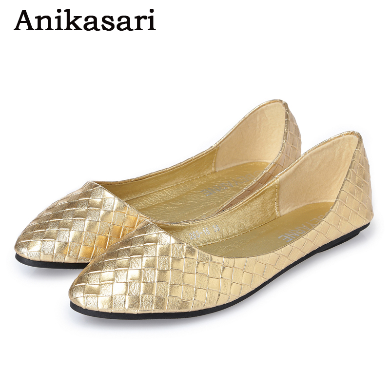Women Shoes Flat Heel Moccasins Soft Bottom Ballet Flats Leather Slip On Ballerina Shoes For Woman Silver Gold Ladies Loafers genuine leather women ballet flats summer loafers moccasins woman slip on folding antiskid casual shoes ballerina size 34 44