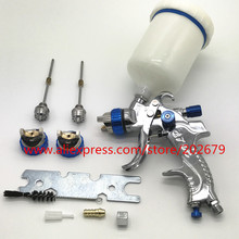 601 Spray Gun  HVLP SPRAY GUN gravity feed stainless steel  nozzle 1.4mm 1.7mm 2.0mm auto Car face Paint Spray Gun
