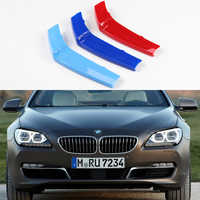 3D M Front Grille Trim Sport Strips grill Cover Performance Stickers For 2010-2018 BMW 6 Series F12 F13 F06 640i 650i 640d