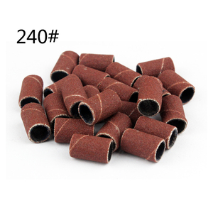 Image 5 - Tignish 100Pcs/Pack #80 #120 #150 #180 #240 Sanding Bands Manicure Pedicure Nail Electric Drill Machine Grinding Sand Ring Bit