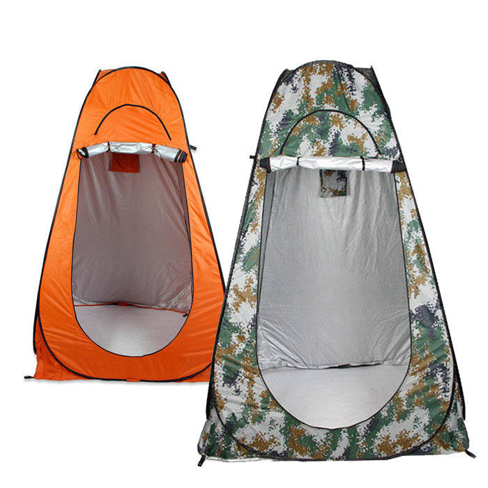 Portable Outdoor 1-2 persons Folding Pop Up Tent Camping Beach Toilet Shower Dressing Changing Room Outdoor Shelter 2 Window portable shower tent outdoor waterproof tourist tents single beach fishing tent folding awning camping toilet changing room