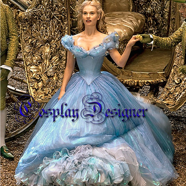 2015 film cendrillon parti robe princesse robe cendrillon princesse cendrillon cosplay costume. Black Bedroom Furniture Sets. Home Design Ideas