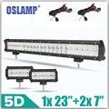 """Oslamp 5D Combo LED Light Bar Set 1X240 W 23 """"+ 2X60 W 7"""" punto/Inundación Luz de Trabajo Led para el Carro SUV ATV Camioneta Barra de Luz 12 V 24 V"""