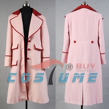 Who is Doctor Dr. Long Pink Cashmere Trench Coat Jacket Cape Halloween Cosplay Costumes For Women Custom Made Free Shipping